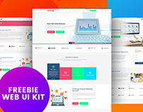 Markety - SEO & Digital Marketing Web UI KIts Freebie