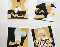 Love Life postcards, set of 10