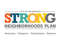 Strong Neighborhoods Plan logo, branding, marketing
