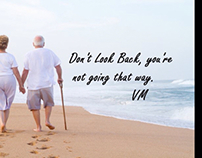 Don't look back, motivation, meditation, affirmations