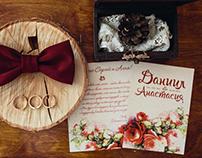 Набор свадебной полиграфии «Пионы и марсала»
