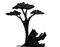 Reading Bear Illustration