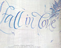 Jane Austen in Calligraphy on Silk