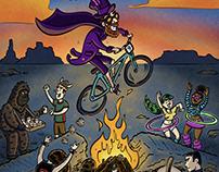 Bike Race Burning Man | Client: Utah Adventure Journal
