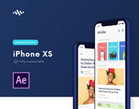 Iphone XS - Fully Customizable Animated Mockup for AE