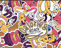 Calories Attack Sticker