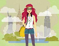 Fashion Illustrations (New York, London, Paris)