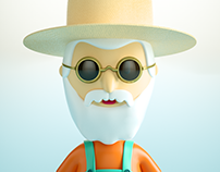 Agricultor Moderno / CHARACTER 3D
