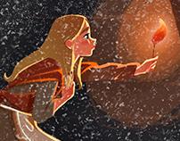 Illustrationg of H.C. Andersen story 'Little