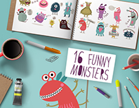 16 funny monsters