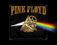 Pink Floyd - Steam Punk Dark Side T-shirt