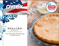"Pyrex Atlantic Blue 9.5"" Pie Plate"