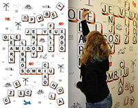scrabble office mural