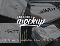 Lettering & Drawing Mockup Set