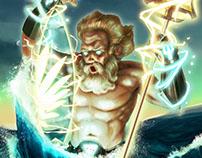 Poseidon, fathering a Surfboard