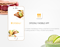 Spoonly mobile app design