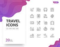 Travel Icons Set