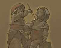 Oriental childhood!