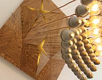 """""""Sun Green"""" chandelier"""