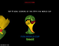 Top scorers for the 2014 World Cup in Brazil