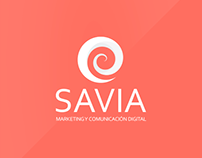 SAVIA - Imagotype + Business Card + Motion gifs