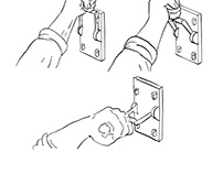 Hand Pulling Frankenstein Light Throw Switch Drawing