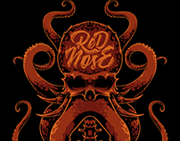 Red Nose - Skull Octopus