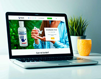 Viantic Gel - Landing Page - Web Design
