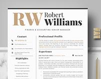 Modern & Professional Resume Template. Professional CV