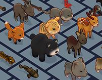 3D cartoon animals pack