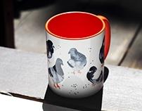 Small Pigeons Mug
