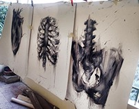 Anatomy Study - Oil On Canvas
