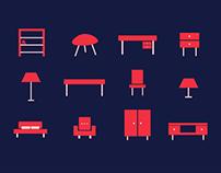 Icon Set Interior Design