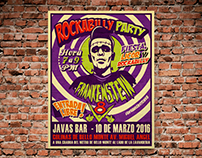 Poster design for band: Frankenstein V8
