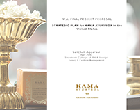 MA Project Proposal Strategic Plan for Kama Ayurveda US