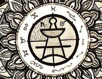 Seal of Solomon paper, ink