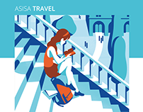 ASISA Travel - Brochure illustrations