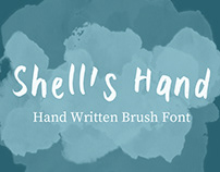 Shell's Hand Brush Font