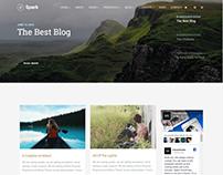 Home Blog Layout - Spark WordPress Theme
