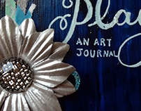 August 2015 Art Journal Pages