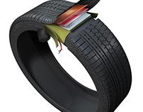 Tire cutaway