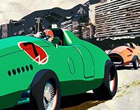Grand Prix Monaco Retro Poster