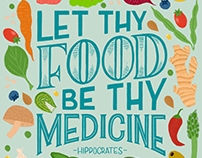 Let Thy Food Be Thy Medicine - Plant Powered Lettering