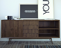 Noden Collective-Mid Century Sideboard