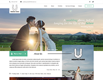 Wedding Photography Web Mockup