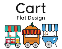 Cart Flat Design Project