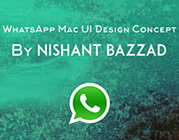WhatsApp for Mac OS X - App design concept