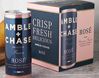 Amble & Chase (Winebow Group) Logo & Canned Wine Design