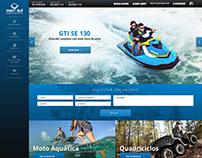 Web design for watercraft dealer