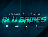 Blu Games YouTube & Twitch Streamer Branding